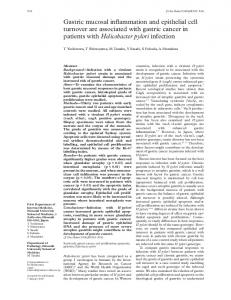 Gastric mucosal inflammation and epithelial cell ... - Europe PMC