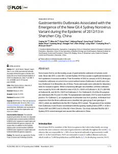 Gastroenteritis Outbreaks Associated with the ... - Semantic Scholar