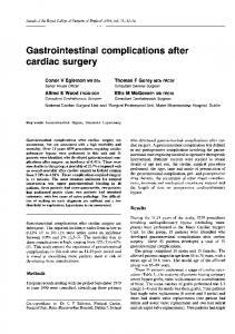 Gastrointestinal complications after cardiac surgery - NCBI