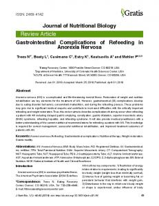 Gastrointestinal Complications of Refeeding in