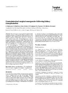 Gastrointestinal surgical emergencies following ... - Wiley Online Library