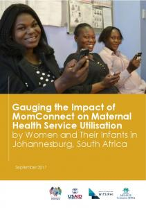 Gauging the Impact of MomConnect on Maternal Health Service ...