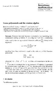 Gauss polynomials and the rotation algebra | SpringerLink