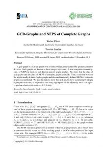 GCD-Graphs and NEPS of Complete Graphs - ars mathematica ...