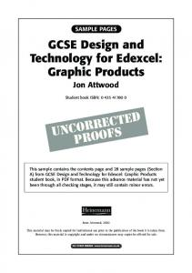 GCSE Design and Technology for Edexcel ... - Pearson Schools