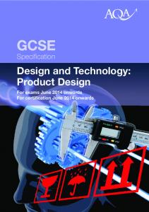 GCSE Design and Technology: Product Design Specification ... - AQA