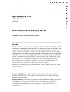 GDP-Indexed Bonds: Making It Happen - the United Nations