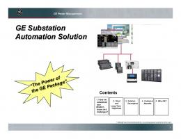 GE Substation Automation Solution - GE Digital Energy