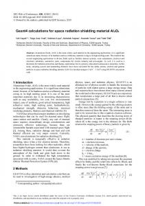Geant4 calculations for space radiation shielding material Al2O3
