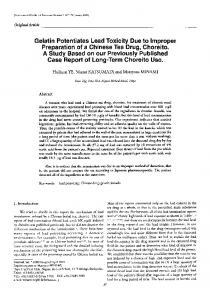 Gelatin potentiates lead toxicity due to improper preparation of a ...