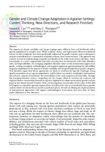 Gender and Climate Change Adaptation in Agrarian ... - Edward Carr