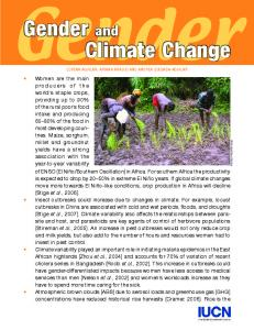 Gender and Climate Change - Gender and Disaster Network