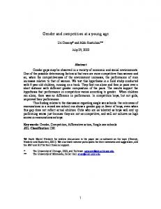 Gender and competition - Semantic Scholar