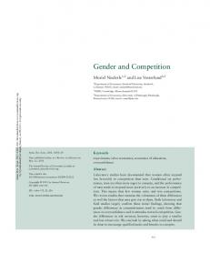 Gender and Competition - Stanford University