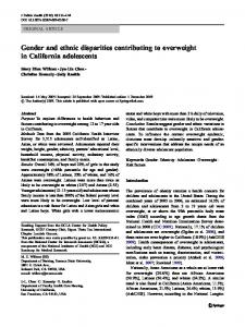 Gender and ethnic disparities contributing to ... - Springer Link