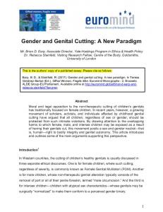 Gender and Genital Cutting: A New Paradigm