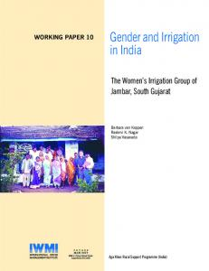 Gender and Irrigation in India - AgEcon Search