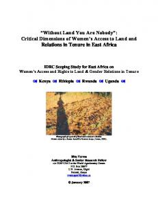Gender and Land Rights - Land Portal