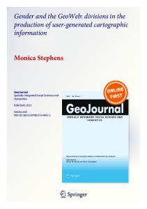 Gender and the GeoWeb: divisions in the