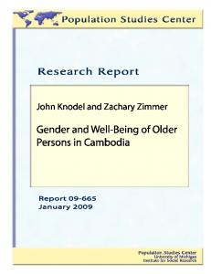 Gender and well-being of older persons in Cambodia - Michigan ...
