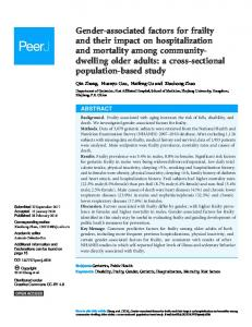 Gender-associated factors for frailty and their impact on ... - PeerJ