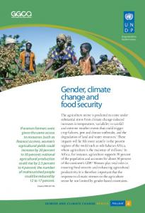 Gender, climate change and food security - UNDP