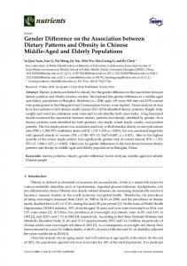 Gender Difference on the Association between Dietary Patterns - MDPI