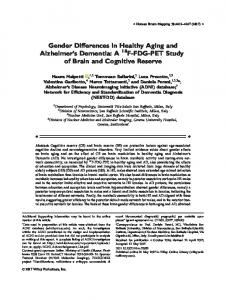 Gender differences in healthy aging and ... - Wiley Online Library