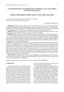 GENDER DIFFERENCES IN PREFERENCES OF ... - Acta Gymnica
