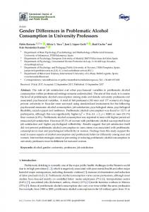 Gender Differences in Problematic Alcohol Consumption in University ...