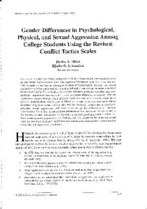 Gender differences in psychological, physical, and sexual ...