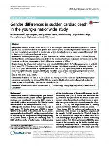 Gender differences in sudden cardiac death in the ... - Semantic Scholar