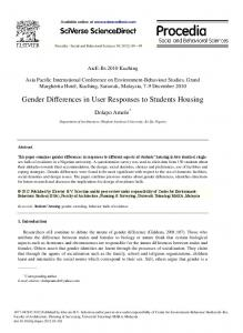 Gender Differences in User Responses to Students