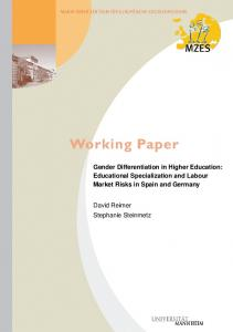 Gender Differentiation in Higher Education: Educational ... - Mzes