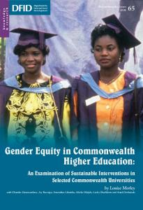 Gender Equity in Commonwealth Higher Education