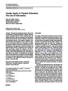Gender Equity in Physical Education: The Use of ... - Springer Link