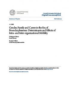 Gender, Family and Career in the Era of