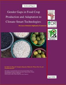 Gender Gaps in Food Crop Production and