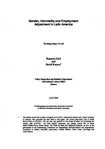 Gender, Informality and Employment Adjustment in Latin ... - CiteSeerX