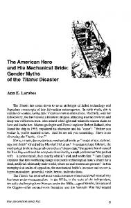 Gender Myths of the Titanic Disaster - Core