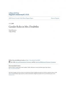 Gender Roles in Mrs. Doubtfire - DigitalCommons@COD - College ...