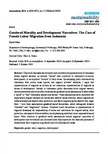 Gendered Morality and Development Narratives: The ... - CiteSeerX