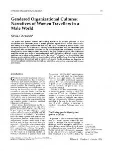 Gendered Organizational Cultures: Narratives of ... - Wiley Online Library