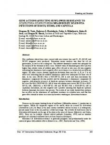 Gene actions affecting sunflower resistance to Sclerotinia sclerotiorum ...