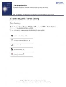 Gene Editing and Journal Editing