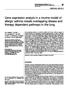 Gene expression analysis in a murine model of allergic ... - Nature