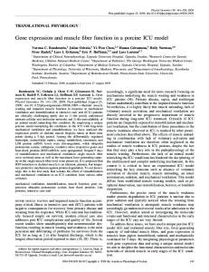 Gene expression and muscle fiber function in a ... - Semantic Scholar