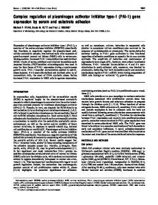 gene expression by serum and substrate adhesion - NCBI - NIH