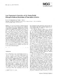 Gene expression in - Springer Link