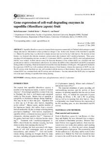 Gene expression of cell-wall degrading enzymes in ... - ScienceAsia